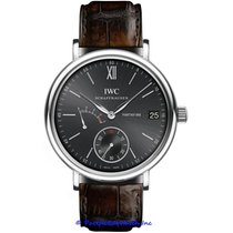IWC Portofino Hand-Wound Steel 45mm Black Roman numerals United States of America, California, Newport Beach