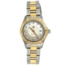0f893748713 TAG Heuer Aquaracer Lady pre-owned 27mm Mother of pearl Date Fold clasp