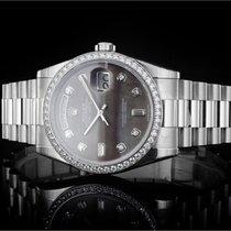 Rolex Platine Remontage automatique Nacre Sans chiffres 36mm nouveau Day-Date 36