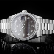 Rolex Day-Date 36 Platino 40mm Madreperla Sin cifras