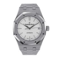 Audemars Piguet Royal Oak 37mm Stainless  Steel White-Silver...