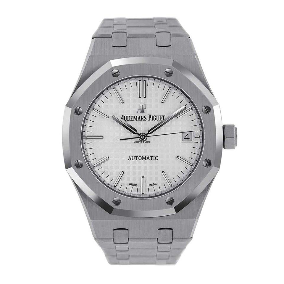 Audemars Piguet Royal Oak 37mm Steel White Dial Watch 15450st Oo 1256st 01
