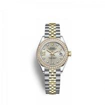 Rolex Lady-Datejust Gold/Steel 28mm Silver