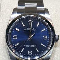Rolex Oyster Perpetual 36 Acier 36mm Bleu Arabes