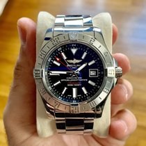Breitling Avenger II GMT Steel 43mm Black No numerals United States of America, New York, astoria