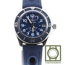 Breitling Superocean II 36 Stahl 36mm Blau Arabisch