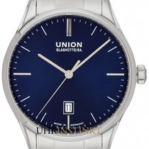 Union Glashütte Viro Date Steel 41mm Blue