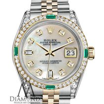 Rolex Lady-Datejust Goud/Staal 26mm Parelmoer Geen cijfers