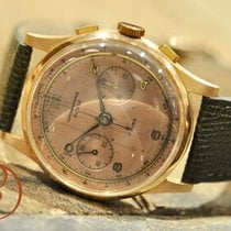 Chronographe Suisse Cie Rose gold 37,5mm Manual winding 1137 pre-owned