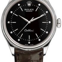 Rolex Cellini Time Oro blanco 39mm Negro