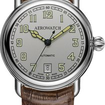 Aerowatch 1942 Steel 40,00mm Grey Arabic numerals