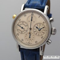 Chronoswiss Chronograph Rattrapante Steel 38mm Champagne