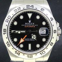 Rolex Explorer II Zeljezo 42mm Crn Bez brojeva