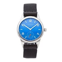 NOMOS Club Neomatik Steel 37mm Blue Arabic numerals United States of America, Pennsylvania, Bala Cynwyd