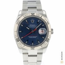Rolex Datejust Turn-O-Graph tweedehands 36mm Blauw Datum Staal
