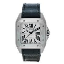 Cartier Santos 100 Steel Silver Roman numerals United States of America, Massachusetts, Andover