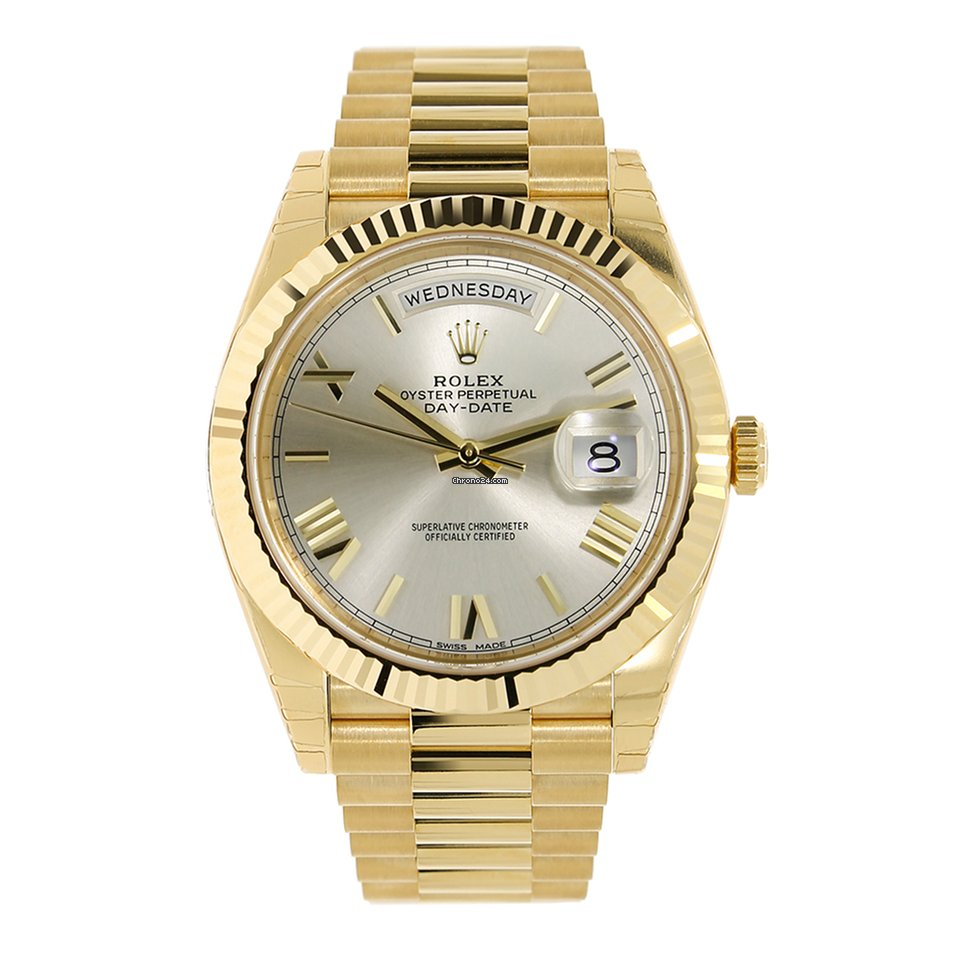 Rolex Day Date 40mm 18k Yellow Gold President Watch 228238