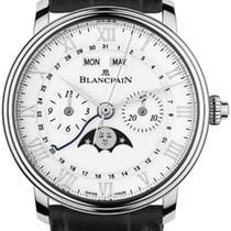 Blancpain Villeret Complete Calendar Steel 40mm Silver United States of America, New York, Airmont