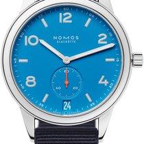 NOMOS Club Automat Datum Aço 41.5mm Azul
