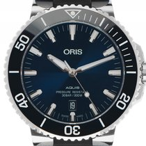 Oris Aquis Date Stahl Automatik Armband Kautschuk 43mm...