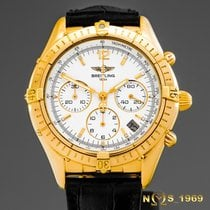Breitling Yellow gold Automatic White 37 mmmm pre-owned Chrono Cockpit