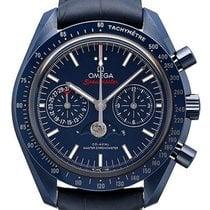 Omega Céramique Remontage automatique Bleu Sans chiffres 44.25mm nouveau Speedmaster Professional Moonwatch Moonphase