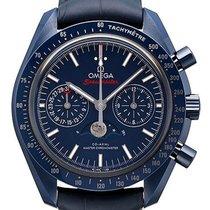 Omega Speedmaster Professional Moonwatch Moonphase Cerámica 44.25mm Azul Sin cifras