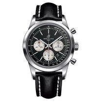 Breitling Transocean Chronograph Steel 43mm Black No numerals United States of America, New York, New York