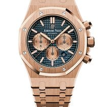 Audemars Piguet Royal Oak Chronograph Oro rosado 41mm Azul Sin cifras