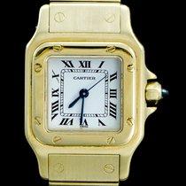 Cartier Santos (submodel) Żółte złoto 26mm Biały Rzymskie