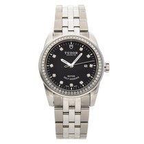 Tudor Steel Automatic Black No numerals 31mm pre-owned Glamour Date