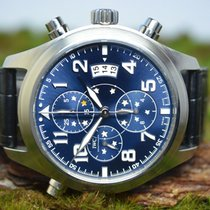 IWC Pilot Double Chronograph Steel 44mm Blue