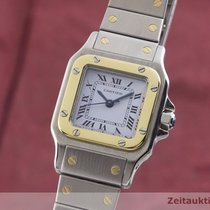 Cartier Χρυσός / Ατσάλι 23.5mm Αυτόματη Santos (submodel) μεταχειρισμένο