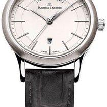 Maurice Lacroix Les Classiques Date Stahl 38mm Silber