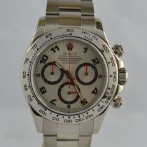 Rolex Daytona White gold 40mm Silver Arabic numerals