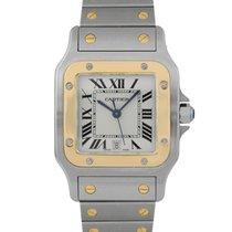 Cartier Santos Galbée Gold/Steel 24mm White Roman numerals United Kingdom, London
