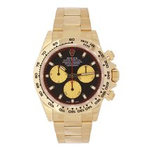 Rolex DAYTONA 18K Yellow Gold Watch Black Dial Gold Sub-Dial