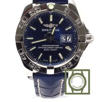 Breitling Galactic 41 300m Blue Dial Crocodile Strap NEW