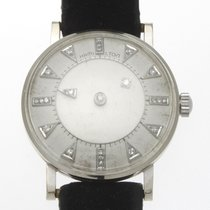 Hamilton White gold Manual winding White No numerals 31mm pre-owned
