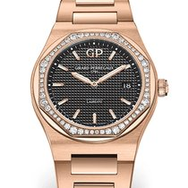 Girard Perregaux Laureato 80189D52A632-52A Girard Perregaux LAUREATO Oro Rosa Nero new