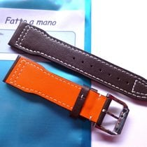 Bodhy Strap in 22mm - Brown Leather / orange 22/18mm - Pilot...