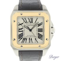 Cartier Santos 100 Gold/Steel XL