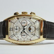 Franck Muller Yellow gold Automatic Silver 36mm pre-owned Cintrée Curvex
