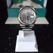 Rolex Datejust Or/Acier 36mm Gris