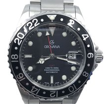 Grovana GMT Diver Steel 42mm Black No numerals United States of America, Florida, Naples