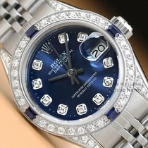 Rolex pre-owned Automatic 26mm Blue Sapphire crystal
