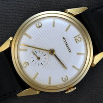 Wittnauer Yellow gold Manual winding White Arabic numerals 35mm new