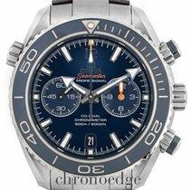 Omega Seamaster Planet Ocean Chronograph Titanium 45.5mm Blue Arabic numerals