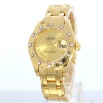 Rolex Lady-datejust Pearlmaster In Gold Mit Brillanten