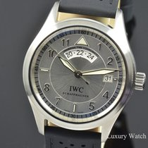 IWC Pilot Spitfire UTC Silver Dial Steel Watch IW3251